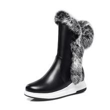 SOPHITINA kış yeni botlar süper sıcak rahat yuvarlak ayak moda fermuar kama katı el yapımı sıcak satış ayakkabı kadın botları PO332(China)