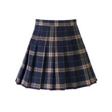 Plisowana spódnica w kratę damski, wiosenny, letni, wysoki stan, krótka spódniczka, jesień, college, wiatr, żółty, charakter, spódnica, super-gorąca spódniczka szkolna(China)