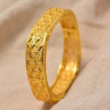 24K Dubai puede abrir brazaletes madre mujer chica joyería etíope pulseras para mujeres árabe africano boda joyería regalos para fiesta(China)
