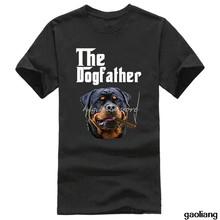 Bộ Áo Thun Quần Áo Thả Vận Chuyển Thủy Thủ Đoàn Cổ Ngắn Rottweiler Dogfather Mới Nam Áo Thun In Nam Áo Sơ Mi(China)