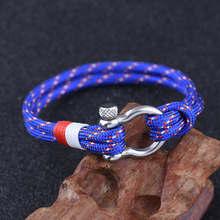 CCD wysokiej jakości męska bransoletka osobowość gładka skóra kobiety czarna kotwica Sport Hook Rope bransoletka i bransoletka ze stali nierdzewnej(China)