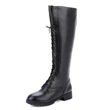 Gdgydh 2019 yeni bağlama kış diz yüksek çizmeler kadın yüksek topuklu fermuar sonbahar kauçuk taban kahverengi topuk uzun çizmeler ayakkabı büyük boy 43(China)