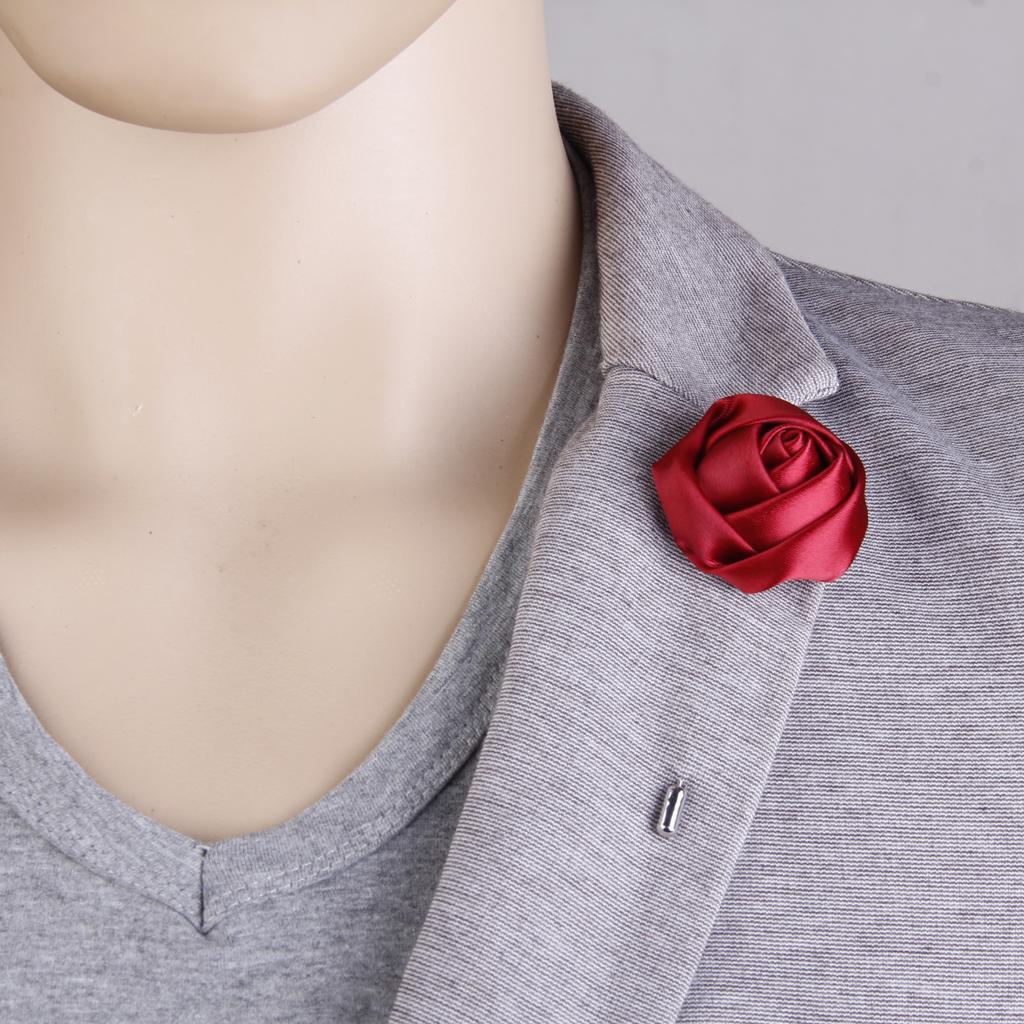 2 pcs Copper Metal Brooch Stick Collar Lapel Pin Mens Suit Boutonniere Pin