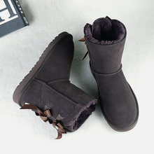 Echt Leer Enkellaars Voor Vrouwen Winter Warm Laarzen Merk Vrouwelijke Schoenen Lace Up Vrouwen Schoenen Laarzen Casual Schoenen DE(China)