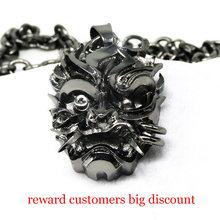 Волшебник самурайская маска медальон кулон ожерелье 32*25 мм дикая книга серии цепи ожерелье NK0255(China)