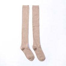Yeni sonbahar kış kızlar kadınlar rahat düz renk yumuşak kablo örgü diz uzun önyükleme üzerinde sıcak uyluk yüksek çorap moda(China)