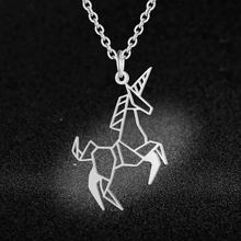 Flying Unicorn Necklace LaVixMia Italy Design 100% Stainless Steel Necklaces for Women Super Fashion Jewelry Special Gift(China)