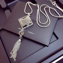 Femmes colliers et pendentifs mode géométrique cristal tour de cou Punk or argent chaîne longue Collares Mujer bijoux accessoires 2019(China)