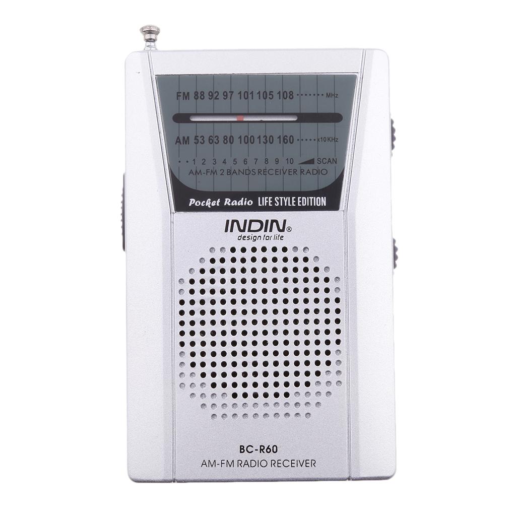Radio Portable,BC-R60 AM/FM Mini Portable Telescopic Antenna Radio Pocket Speaker Outdoor
