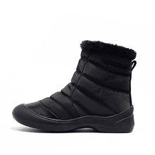 MORAZORA sıcak aşağı kar botları kadın fermuar kalın kürk sıcak pamuklu botlar düz renk rahat ayakkabılar kış yarım çizmeler kadın(China)