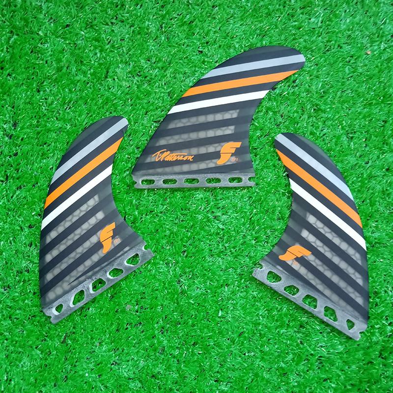 Details about  /3PCS//Set New Hot Fiberglass Black Green Surfboard Fin Thruster FCS II Fins Surf