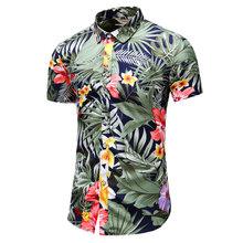 2020 sommer Kurzarm shirt Herren Casual Blume Strand Hawaiian Shirts slim fit Floral Shirts Männer Plus Größe 5XL 6XL 7XL(China)