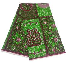Африканская ткань, воск, хлопок, настоящий воск, ткань с принтом Анкары, африканская восковая ткань, 2020 Tissu воск для свадебных платьев(China)