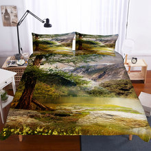 BEST.WENSD Country Lawn Bedclothes American Style King Queen Bedding Bed Linings Duvet Cover Pillowcases Comforter Bedding Sets(China)