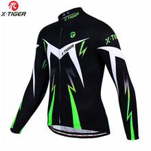 X-kaplan bisiklet Jersey kış uzun kollu bisiklet kıyafetleri termal polar Roupa De Ciclismo Invierno Hombre MTB bisikletçi giysisi(China)