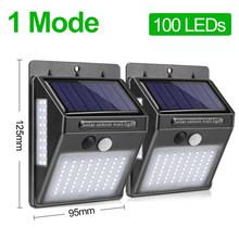Goodland 100 LED שמש אור חיצוני מנורת שמש מופעל אור שמש עמיד למים PIR Motion חיישן רחוב אור עבור גן קישוט(China)