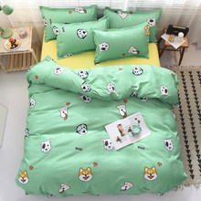 Solstice Cotton Pastoral Flower Cartoon Style Fashion Bedding Bed Linen Bed Sheet Duvet Cover Pillowcase 4pcs Bedding Sets/Queen(China)