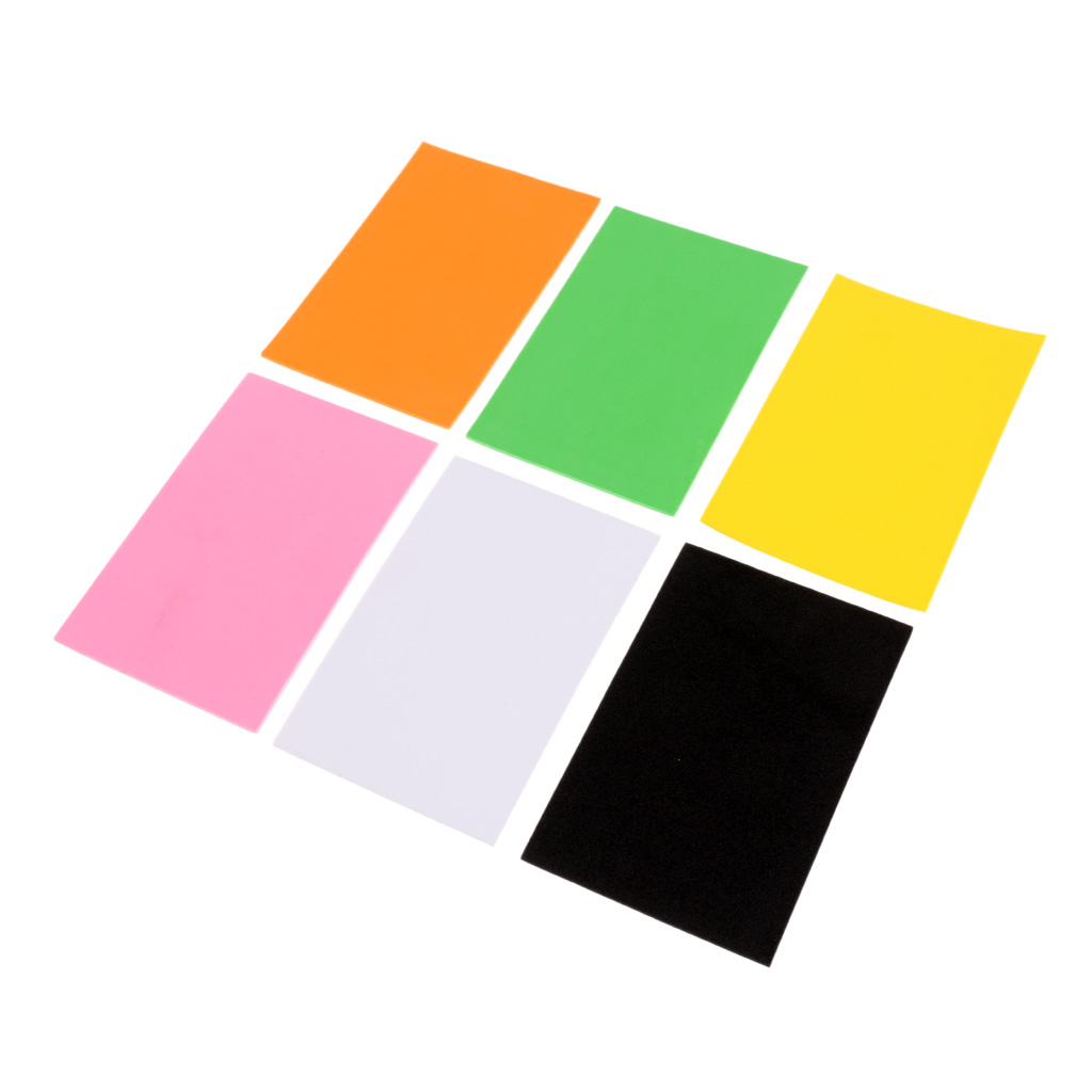 6Pcs 2mm Fly Tying EVA Foam Sheet Fly Tying Materials Crafts for Fly Fishing