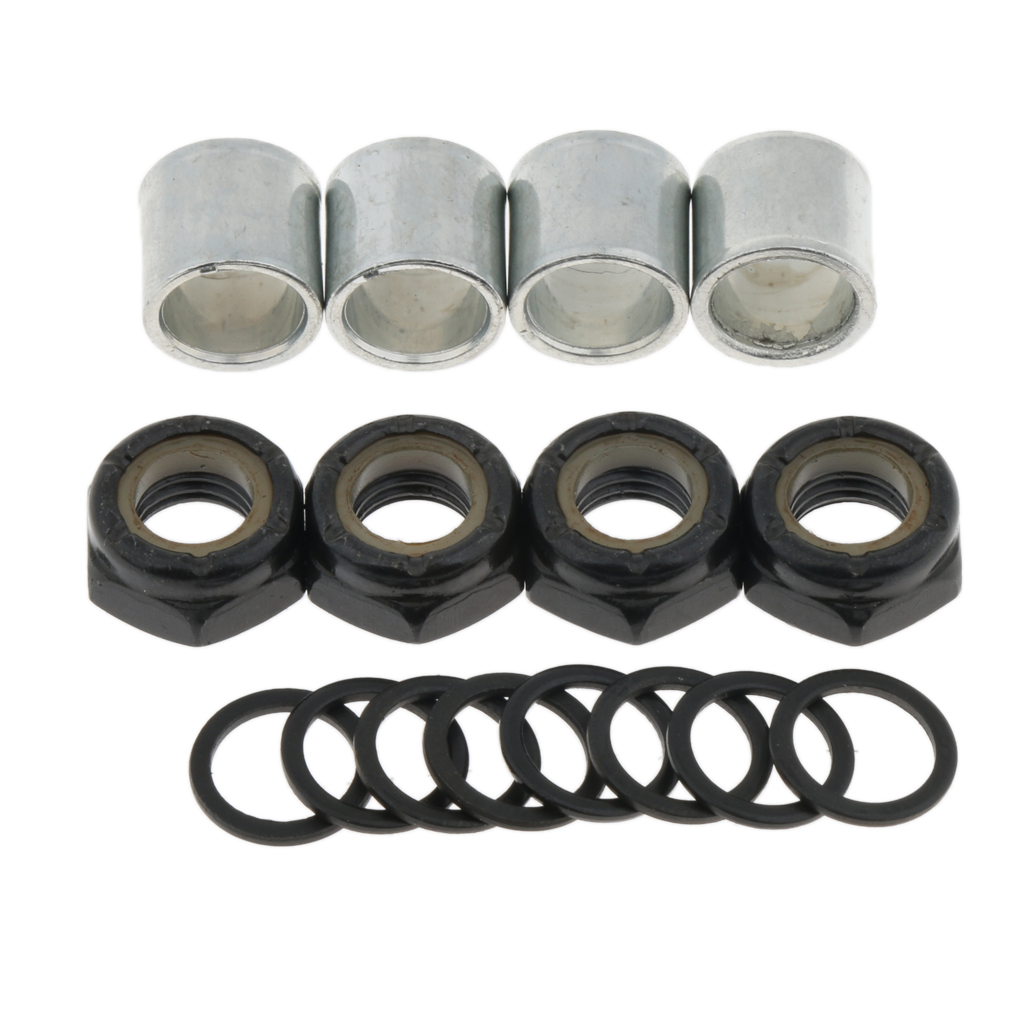 High Quality Standard Skateboard Accessories Washers Bearing Spacers Nuts Longboard Trucks