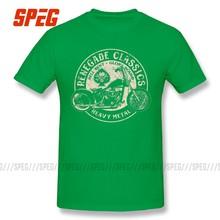 Vintage Gloria Limiti Moto USA T-Shirt Heavy Metal Degli Uomini di T Shirt O Collo del Motore Magliette e camicette Del Manicotto Del Bicchierino 100% Cotone Retrò magliette Maschio(China)