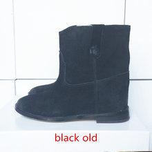 2017 yeni İngiliz rüzgar büyük boy deri kadın Martin botlar artan domuz derisi iç vintage eski kadın düz çizmeler(China)