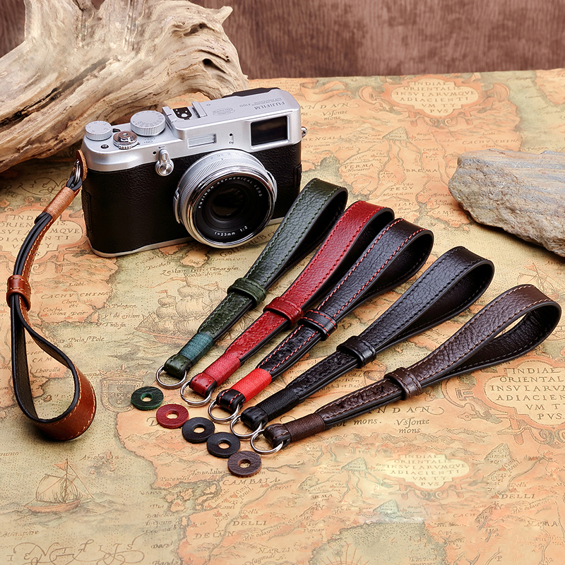 Outdoor Micro Single Camera Long Shoulder Neck Strap Belt,Pure Cotton Portable Carry Rope Long Neck Hand Wrist Lanyard for Fuji X-T30 Round Hole Digital Camera Black