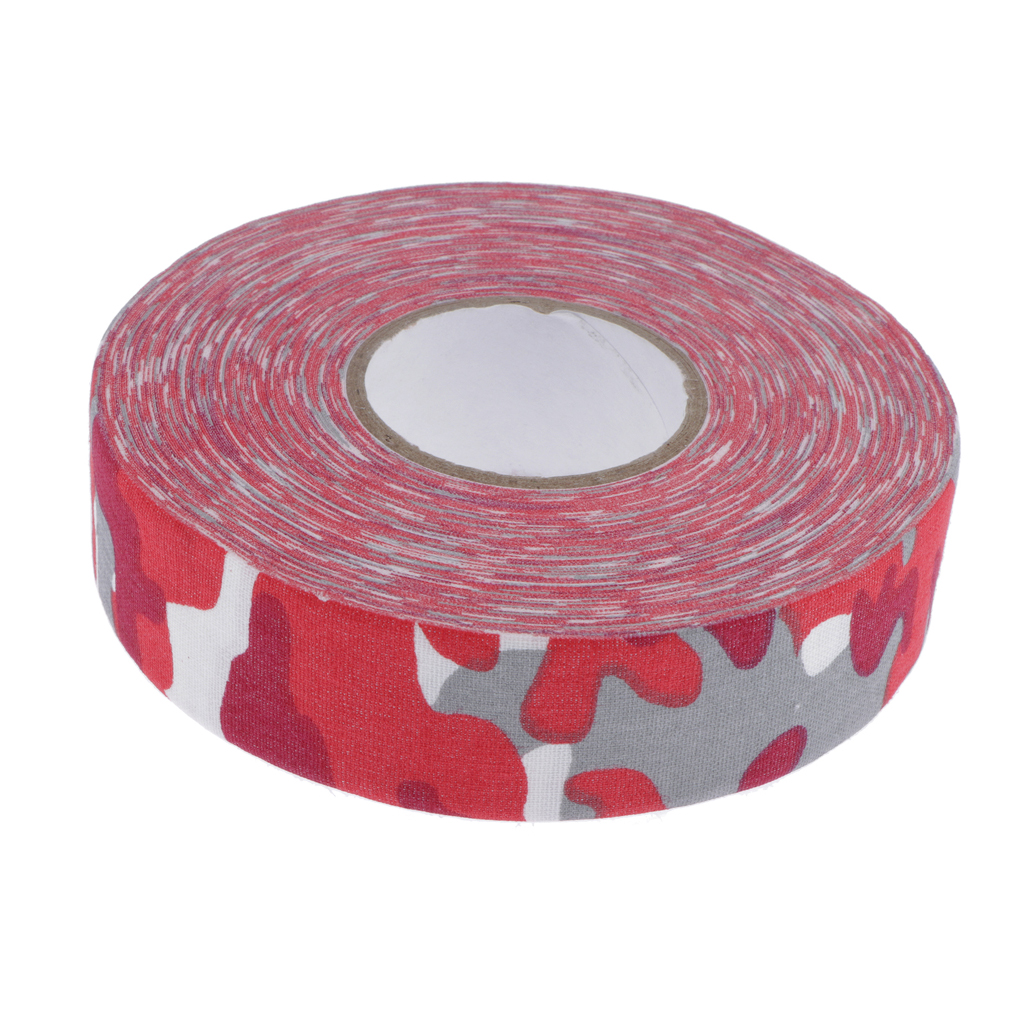 Hot 2.5cm x 25m Anti-Skid Wearproof Tape Grip Wrap for Ice Hockey Ice Roller Tennis Golf Badminton Racket Bike Handle Bar