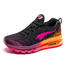 משלוח חינם Onemix חדש משלוח לרוץ חיצוני ספורט ריצת נעלי גברים לנשימה ספורט נעלי נשים גברים נעלי ספורט גברים(China)