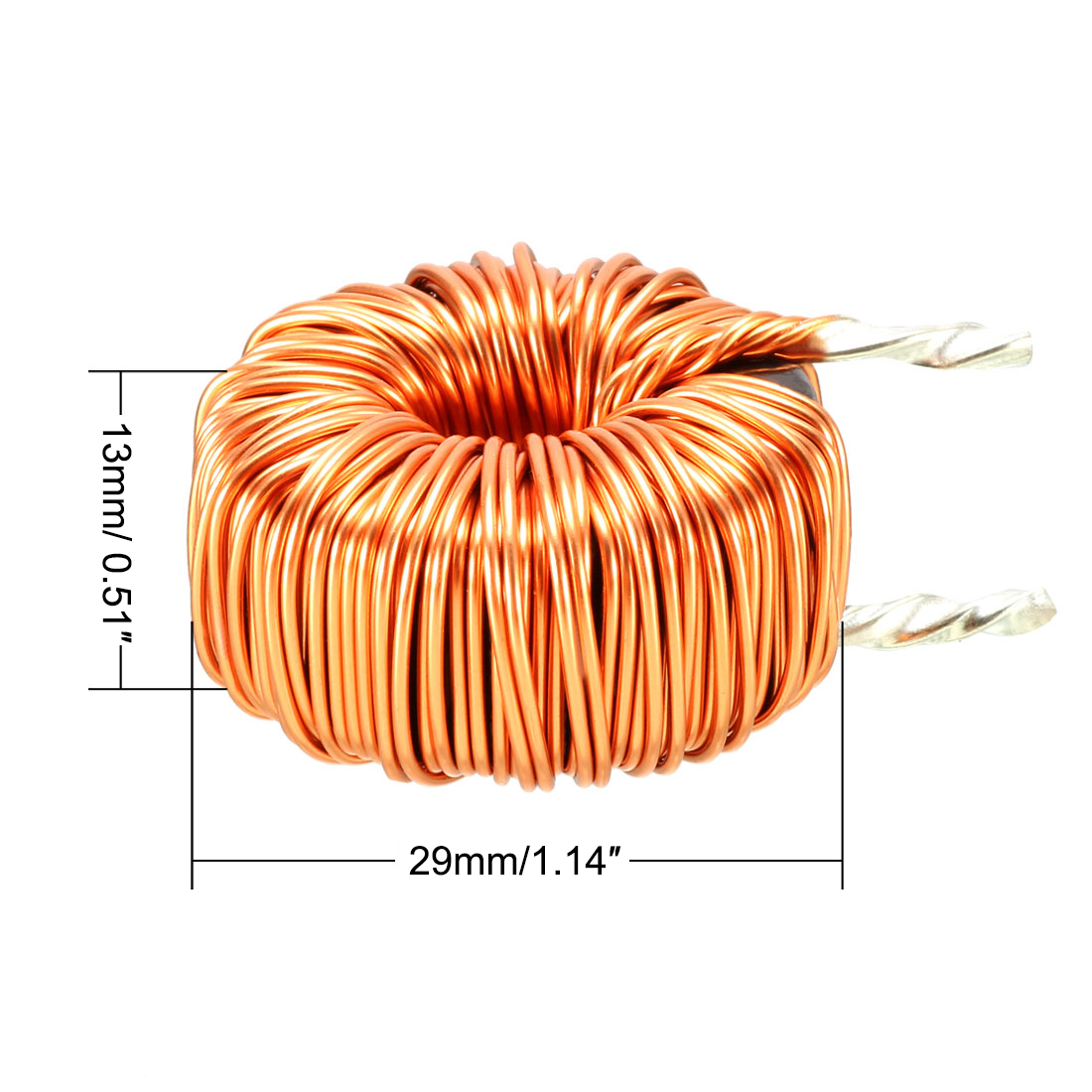Sourcingmap Vertical Toroid Magnetic Inductor Monolayer Wire Wind Wound 100uH 20A Inductance Coil