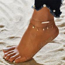 Vintage Boho ลูกปัดหลากสี Anklets สำหรับผู้หญิงแฟชั่นจี้ข้อเท้าผ้าฝ้าย Handmade Chain (China)