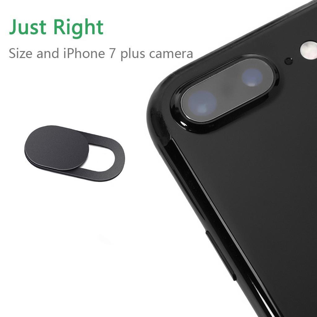 Webcam Cover Camera Privacy Slider Sticker For Laptop Tablet Black
