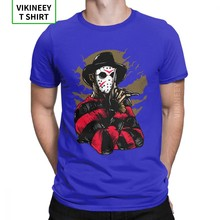 T-Shirts homme Freddy Vs Jason T-Shirts en coton drôle personnaliser film d'horreur Halloween effrayant vendredi le 13th Voorhees t-shirt(China)