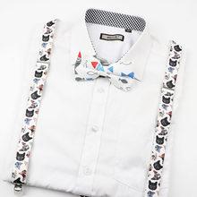 บุรุษสตรีเด็กเพลงเปียโนทหารพิมพ์ Suspenders Tie Bow Tie ชุด PARTY Play เสื้อวงเล็บผีเสื้อเข็มขัดกางเกงกางเกงย...(China)