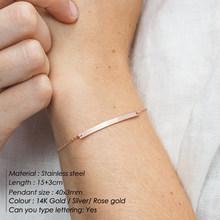 Laramoi אישיות נשים צמיד ארוך רצועת מתכת קסם נשי צמיד נירוסטה זהב/כסף צבע תכשיטי מתנות(China)