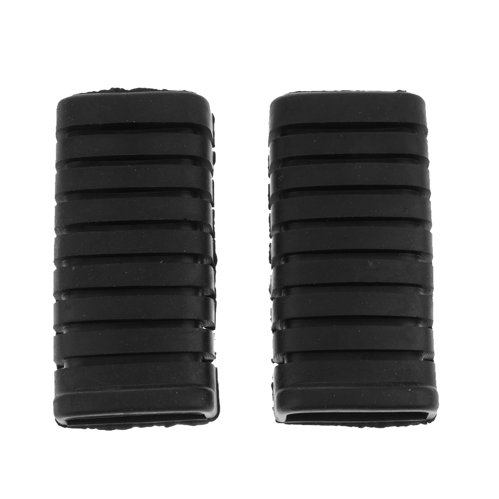 1 Pair Rubber Nonslip Footrest Pedal Foot Peg Cover for Honda WY125 WY 125