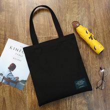 Senhoras bolsas de pano lona tote bags para as mulheres 2019 algodão compras viagens eco reutilizável ombro shopper sacos bolsas(China)