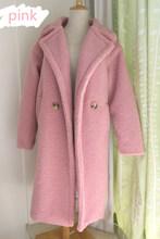 2019 חדש טדי מעיל פו פרווה ארוך מעיל נשים כבש פרווה מעיל 10 צבע עבה מעיל(China)