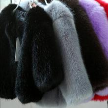 בנות פרווה מעיל תינוק נערי מעילי 2019 סתיו חורף ילדים חם סלעית ילדי הלבשה עליונה עבה אחת חזה בגדי N302(China)