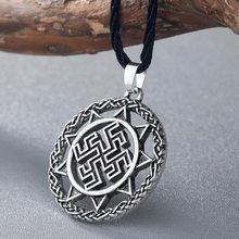 CHENGXUN Thời Trang Nam Vòng Cổ Celtic Mặt Dây Chuyền Rồng Cổ Bé Trai Cánh Cổ Bắc Âu Ngoại Đạo Viking Chữ Rune Tôn Giáo Trang Sức(China)
