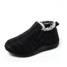 Kadın kar çizmeler kadın ayakkabıları sıcak peluş kürk yarım çizmeler kış kadın üzerinde kayma düz rahat ayakkabılar su geçirmez Ultralight ayakkabı(China)