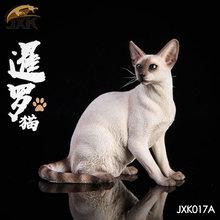 Collectible Em Estoque 1/6 Escala Jxk017 Gato Siamês Agachamento Modelo Animal Acessório Preto Cor Da Pele Brinquedo de Estimação para 12'' figura de ação(China)