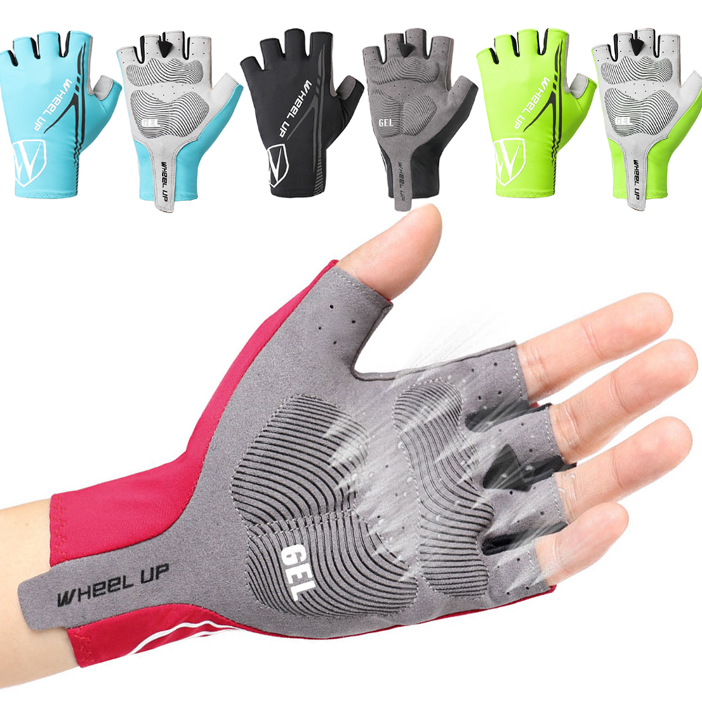 Mittens glove outdoor sport cycling bicycle gel palm protection velcro