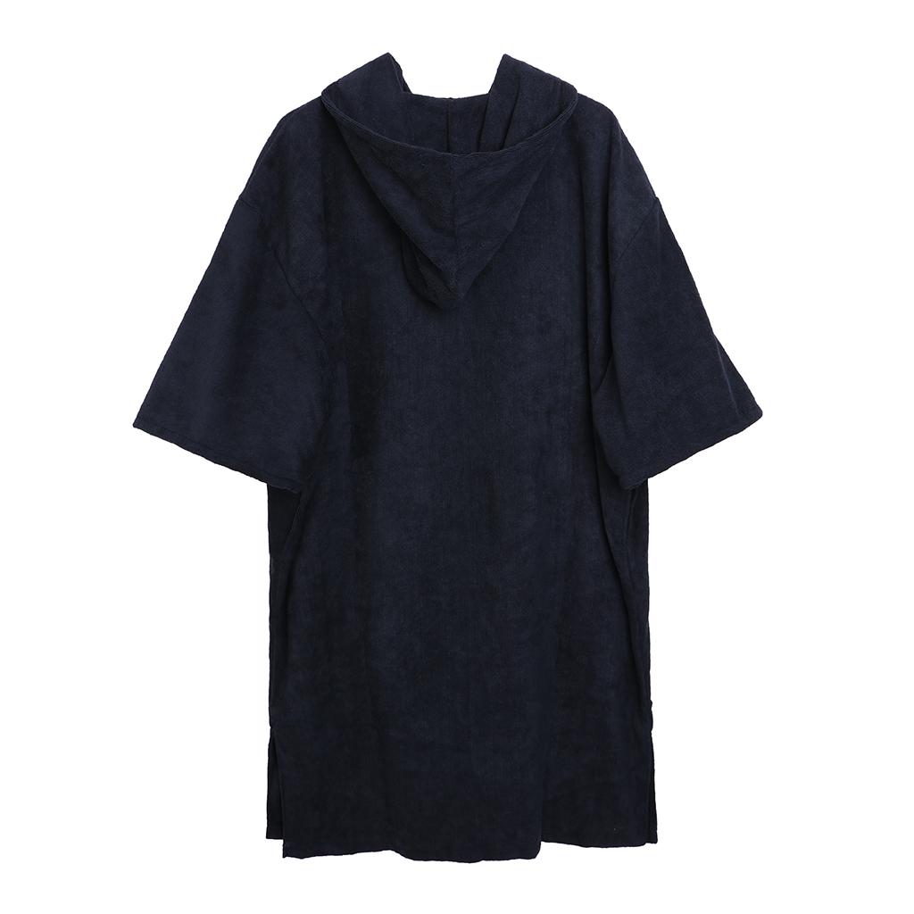Unisex Adult Long Sleeve Surf Robe Beach Poncho Hooded Bathrobe Anti-UV Beach Swimming Bath Suit Towel Wind Protection