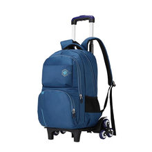 2/6 Wheels New Children School Bags Trolley Backpacks For Boys Schoolbag Kids Luggage Bag On Wheels Backpack Men Bolsas Mochila(China)
