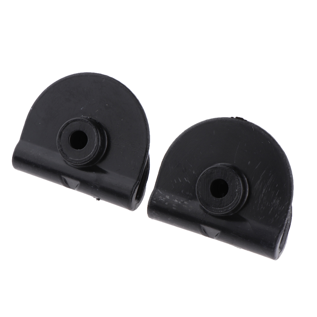 2pcs ABS Plastic Left Side Battery Cover Clips Fits for Harley Sportster XL 883 1200 2004-2018