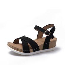 MCCKLE 2020 Sommer frauen Sandalen Elastische PU Casual Gold Bling Schuhe Frauen Plattform Keile Alias Damen Weibliche Plus Größe(China)