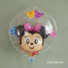 1 PC Raksasa Mickey Minnie Mouse Balon Kartun Balon Baby Shower Anak Laki-laki Gadis Pesta Ulang Tahun Dekorasi Mainan Anak(China)