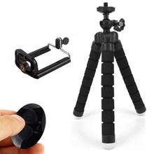 COOLJIER гибкий губчатый мини штатив с Bluetooth кнопкой на ручке для iPhone Мини Камера Штатив Держатель-зажим для мобильного телефона с подставкой(China)