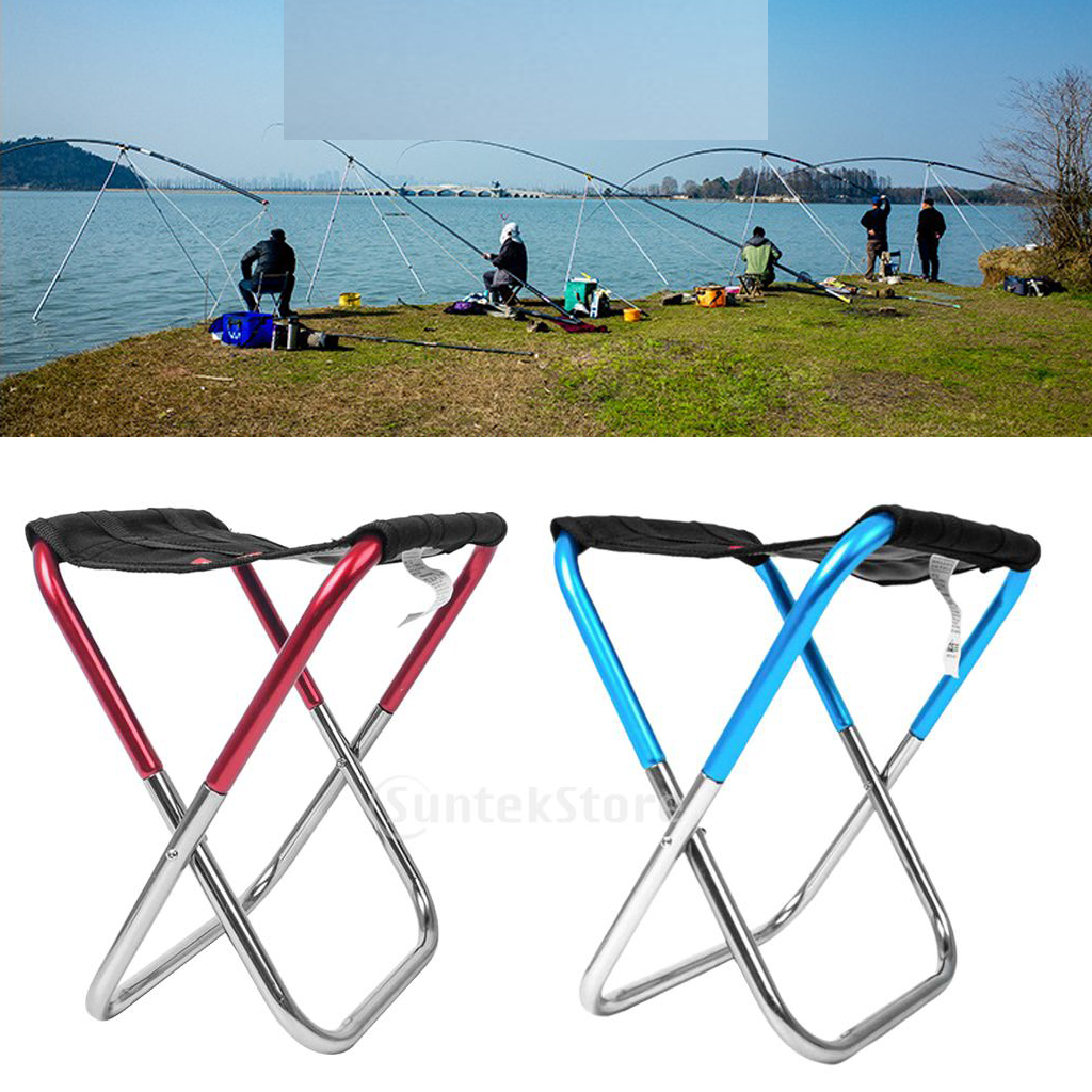 2X Folding Seat Tripod Portable Travel Fishing Outdoor Camping Stool Mini Chair