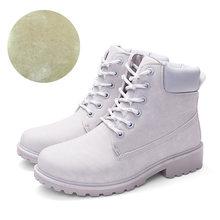 2019 Yeni yarım çizmeler Kadınlar Kışlık Botlar Için Martin Çizmeler Peluş Sıcak Kadın Botları Kadın Kış Ayakkabı Kadın Ayakkabı Artı boyutu 42(China)